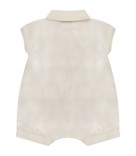 Ivory babyboy romper with double GG