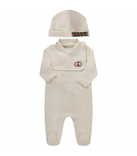 Ivory babyboy set with iconic double GG