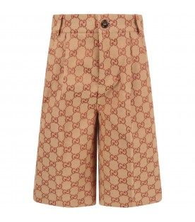 Beige boy short wth iconic GG