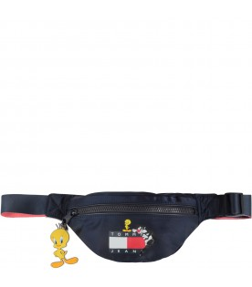 Blue kids bum bag with iconic flag