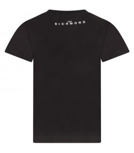 Black boy T-shirt with logo