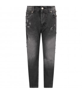 Grey boy jeans with iconic studs