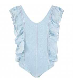 Light blue swimsuit for girl