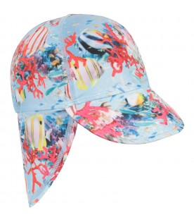 Light blue babykids hat with corals