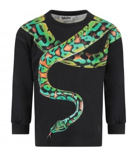 Black boy sweatshirt with snake