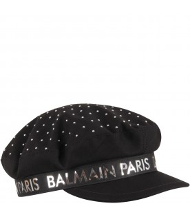 Black girl hat with silver logo