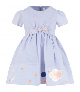 Light blue girl dress with logo