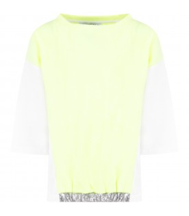 Neon yellow and white girl sweatshirt