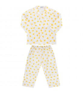 White kids pajamas with ducks
