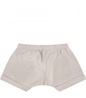 Beige and white babygirl short