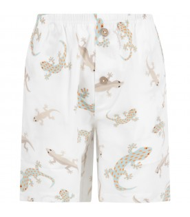 White boy short with geckos