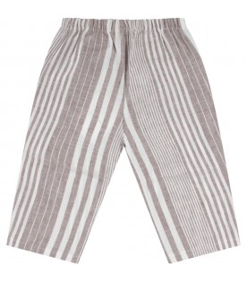 Beige and white babyboy pants