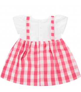 White and fuchsia babygirl dress