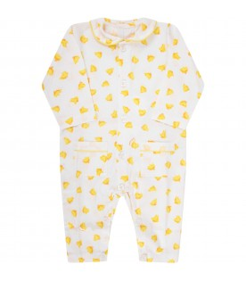 White babyboy babygrow with ducks