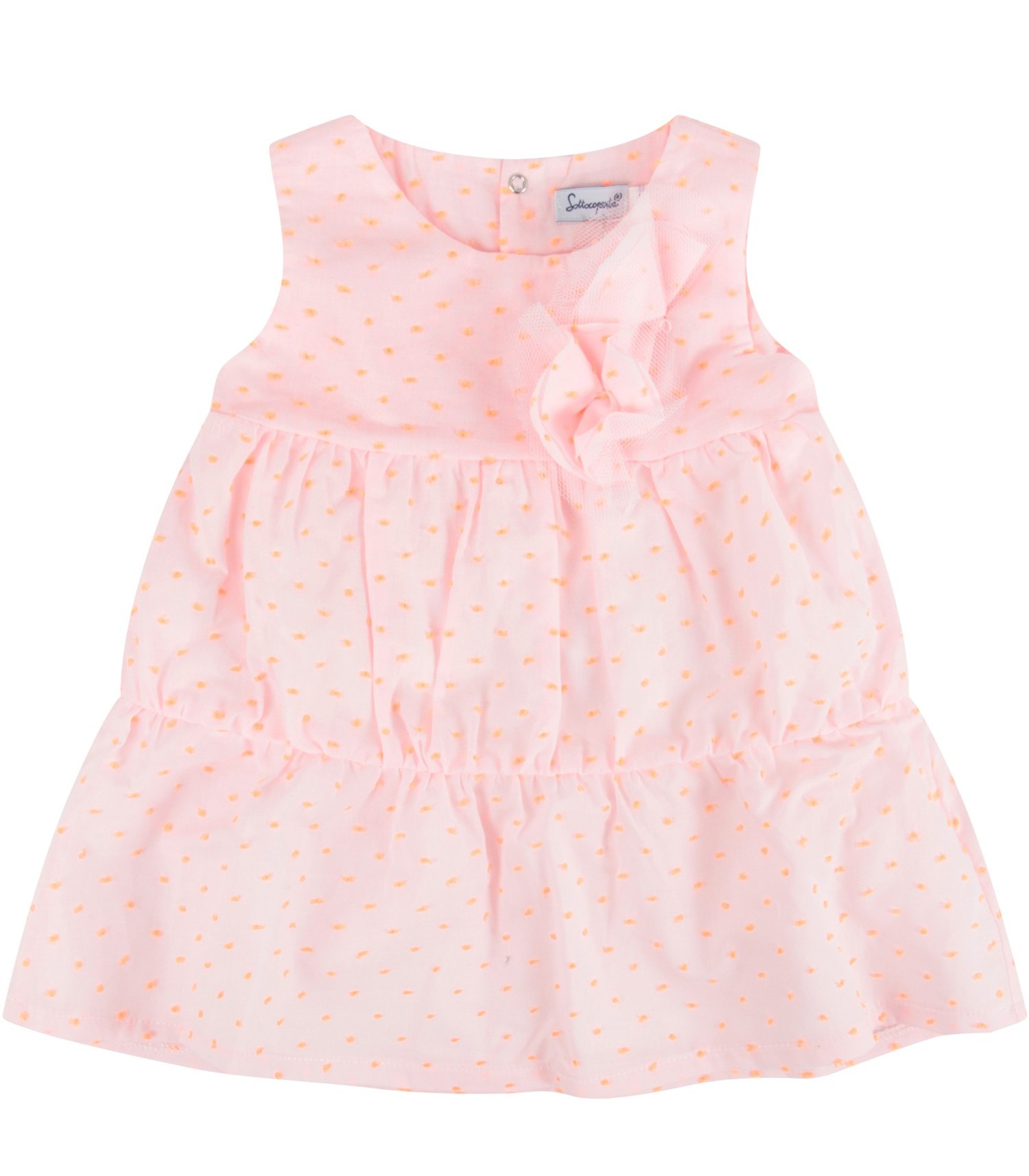 Sottocoperta Pink babygirl dress with polka-dots