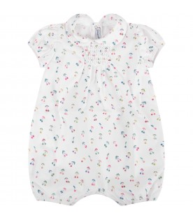 White babygirl romper with cherries