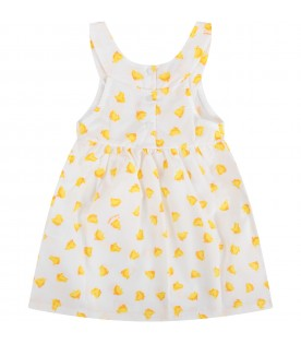 White babygirl dress with ducks