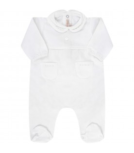 White babykids babygrow with embrodery