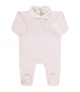 Pink babygirl babygrow with flowers