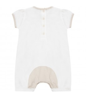 Ivory babygirl romper with double FF