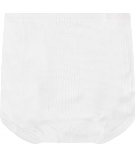 White culotte with ribbs for babykids