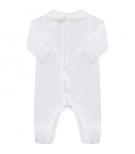 White babykids babygrow with feathers
