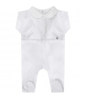 White babykids babygrow with rhombus