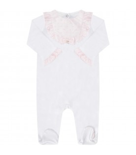 White babygirl babygrow with pink bow