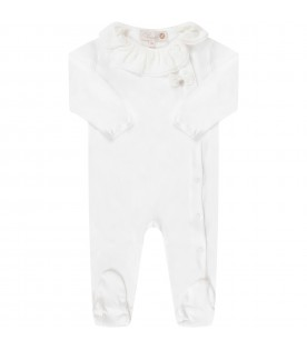 White babygirl babygrow with bow
