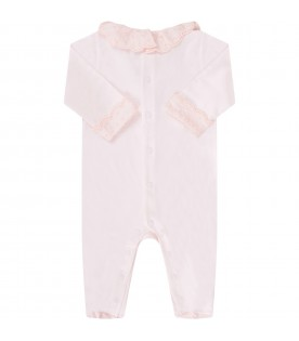 Pink babygirl babygrow with bow