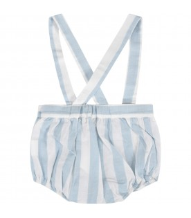 White and light blue babyboy overall