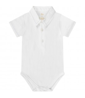 White babyboy body with embroidery