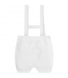 White babyboy overall with logo