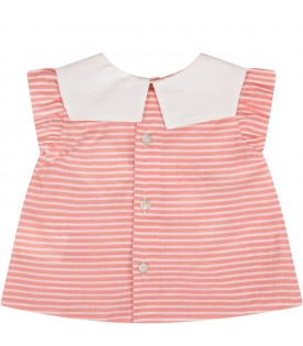 Red and white babygirl blouse