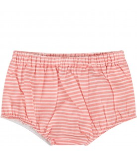 Red and white culotte for baby girl