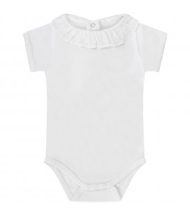 White body with embroidery for baby girl