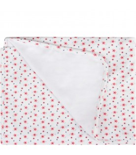 White babygirl blanket with flowers