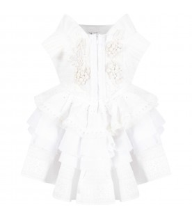 White and ivory ''Blanca'' girl dress