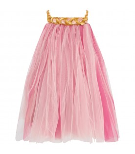 Pink and fuchsia ''Melodia'' dress for girl