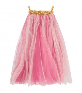 Pink and fuchsia ''Melodia'' girl dress