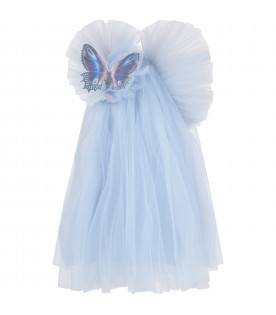 Light blue ''Spark'' girl dress
