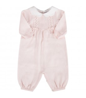 Pink babygirl babygrow with bows