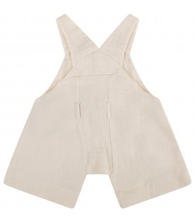 Ivory kidsbaby overall with clouds
