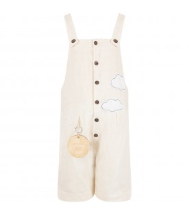 Ivory kids overall with clouds