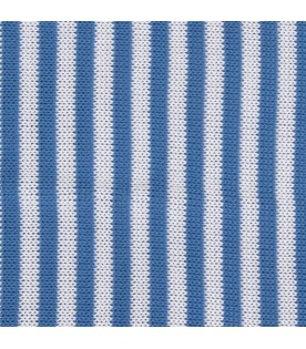 Azure and white babyboy blanket