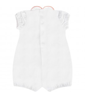 White babygirl romper with bow