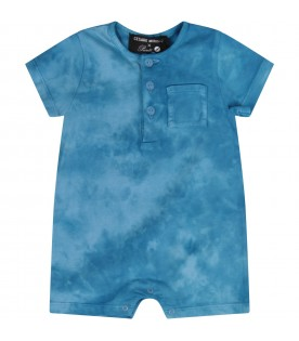 Turquoise romper for baby boy