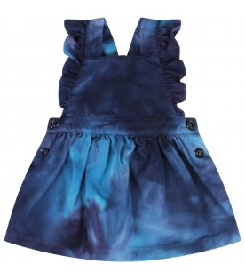Blue overall for baby girl