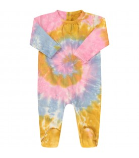 Colorful babygrow for baby girl