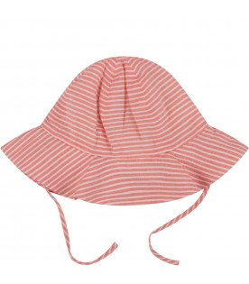 Red and white babygirl sun hat